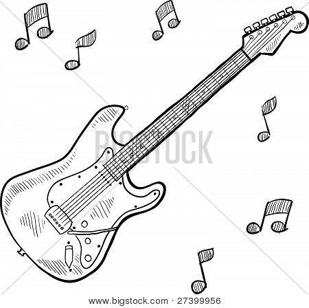 Electric guitar sketch