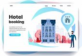Web Page Design Templates For Hotel Booking, Search Hotel Rooms, Search In Other Countries, Search I poster