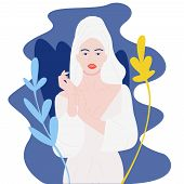 Spa Girl-pretty Girl In Towel Relaxing With Towel Wrap poster
