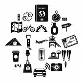 Tourist Trip Icons Set. Simple Set Of 25 Tourist Trip Vector Icons For Web Isolated On White Backgro poster