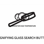 Magnifying Glass Search Button Icon Isolated On White Background. Magnifying Glass Search Button Ico poster