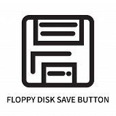 Floppy Disk Save Button Icon Isolated On White Background. Floppy Disk Save Button Icon Simple Sign. poster