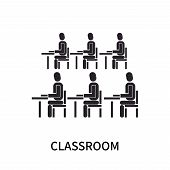 Classroom Icon Isolated On White Background. Classroom Icon Simple Sign. Classroom Icon Trendy And M poster