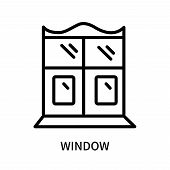 Window Icon Isolated On White Background. Window Icon Simple Sign. Window Icon Trendy And Modern Sym poster