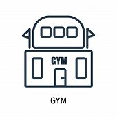Gym Icon Isolated On White Background. Gym Icon Simple Sign. Gym Icon Trendy And Modern Symbol For G poster