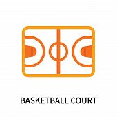Basketball Court Icon Isolated On White Background. Basketball Court Icon Simple Sign. Basketball Co poster
