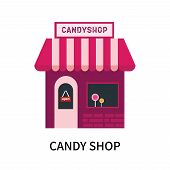 Candy Shop Icon Isolated On White Background. Candy Shop Icon Simple Sign. Candy Shop Icon Trendy An poster