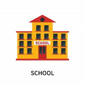 School Icon Isolated On White Background. School Icon Simple Sign. School Icon Trendy And Modern Sym poster