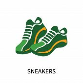 Sneakers Icon Isolated On White Background. Sneakers Icon Simple Sign. Sneakers Icon Trendy And Mode poster