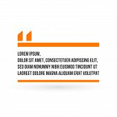 Innovative Orange Quotation Template With Quotes. Creative Vector Banner Illustration With A Quote I poster