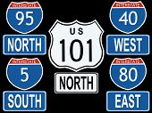 American Interstate And Highway Signs Illustration (Replacing: 1450556)