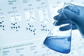 stock photo of chemistry technician  - Scientific concept - JPG