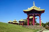 Pagoda, Golden Abode Of Buddha Shakyamuni, Buddhist Temple In Elista. poster