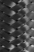 Metal Wire Braiding In Macro. Detailed Steel Texture Close Up. Ideal Metal Background With Copy Spac poster