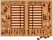 image of afrikaner  - concept for coffee shop menu  - JPG
