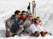 picture of ski boots  - Young Family On Ski Vacation - JPG