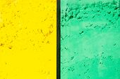 Bright Yellow Green Colored Powder Background. Bright Colours For Indian Holi Festival. Colorful Gul poster
