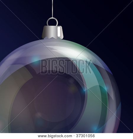 Detail of glass Christmas bauble. Also available in vector format vector format.