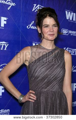 LOS ANGELES - SEP 21:  Betsy Brandt arrives at the Variety and Women in Film Pre-Emmy Event at Scarpetta on September 21, 2012 in Beverly Hills, CA