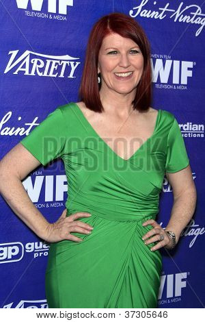 LOS ANGELES - SEP 21:  Kate Flannery arrives at the Variety and Women in Film Pre-Emmy Event at Scarpetta on September 21, 2012 in Beverly Hills, CA