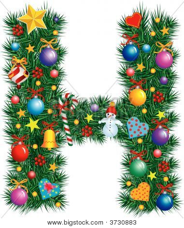 Alphabet Letter H - Christmas Decoration