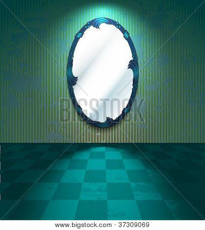 Sala de Grunge con espejo