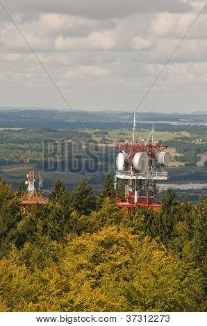 Lookout tower Jarnik, telecomunication towers