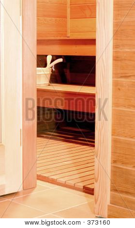 Open Sauna Door