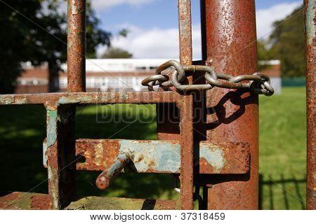Locked School Gate