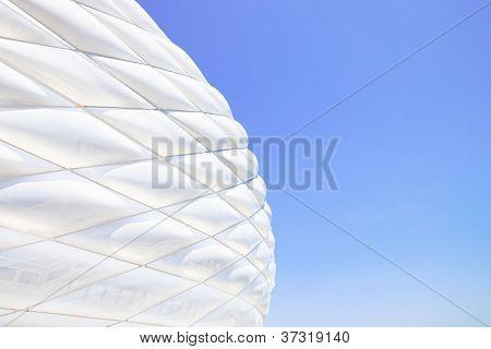 Facade Detail Of The Football Stadium Allianz Arena. Munich Germany.