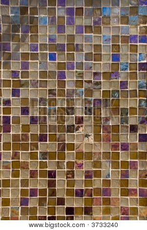 Brown Toned Glass Tile Background