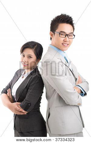 Equipe de negócios confiante