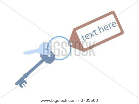 Door Keys With  Key Tag