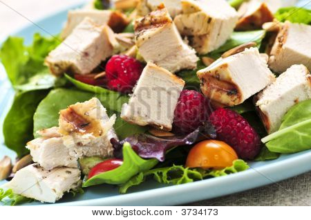 Green Salad With Grilled Chicken