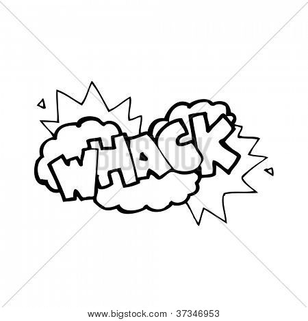 comic book whack symbol