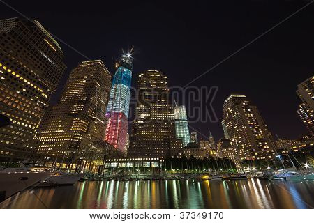New York City - September 17: One World Trade Center (known As The Freedom Tower) Is Shown Under New