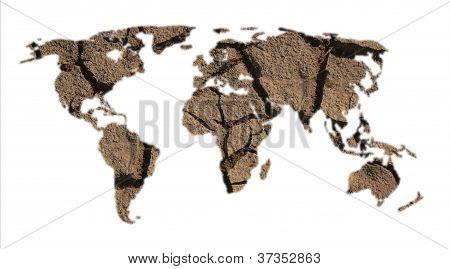 World Map Of Dry Ground