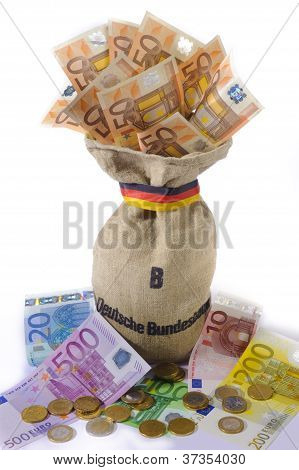 german money bag