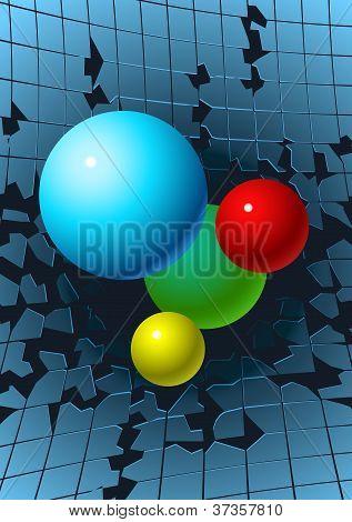 Balls Breaking Glass
