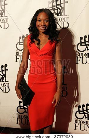 NEW YORK-SEPT. 24: Olympic gold medalist runner Allyson Felix attends the 27th Great Sports Legends Dinner for the Buoniconti Fund at the Waldorf-Astoria on September 24, 2012 in New York City.