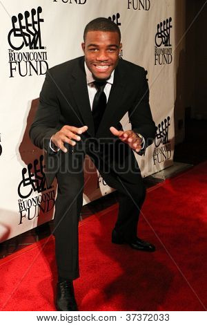 NEW YORK-SEPT. 24: Olympic gold medalist wrestler Jordan Burroughs attends the 27th Great Sports Legends Dinner for the Buoniconti Fund at the Waldorf-Astoria on September 24, 2012 in New York City.