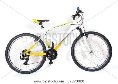 Mountain Bike On White Background