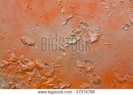 Abstract orange and gray old metal graffitti background