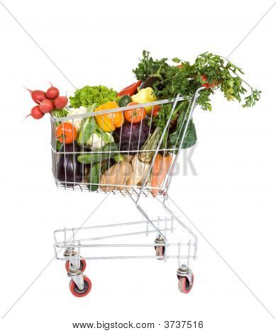 Shopping Cart With Vegetables