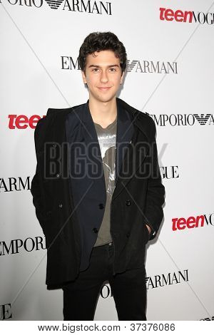 BEVERLY HILLS - SEP 27:  Nat Wolff at the Teen Vogue's 10th Anniversary Annual Young Hollywood Party on September 27, 2012 in Beverly Hills, California