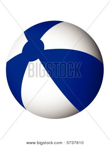 Blue And White Beach Ball