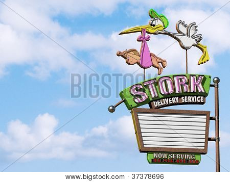 Stork Delivery Girl
