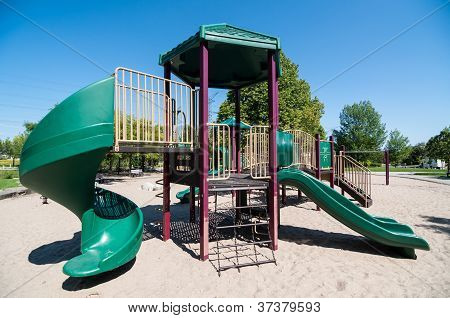 Playground Equipment In A Public Park