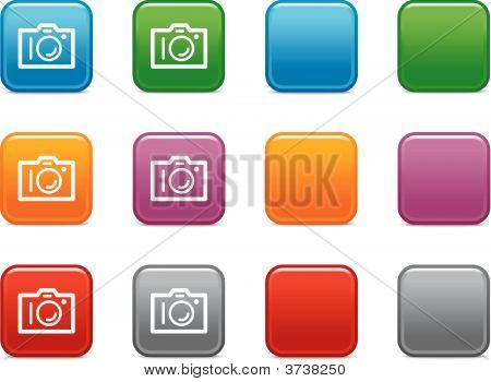 Color Buttons With Photo Camera Icon