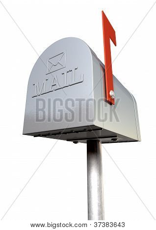 Old School Retro Metal Mailbox